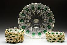 Bohemian Glass Set.