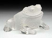 Lalique Glass Frog.