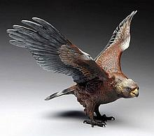 Austrian Bronze Eagle Figurine.