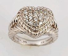 Judith Ripka Sterling Silver & CZ Ring.
