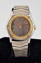 Ebel Classic Wave Steel/Gold Diamond Watch.