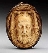Early Bone Carved Portrait.