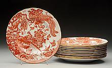 Set of 12 Royal Crown Derby Dinner Plates.