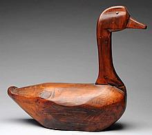 Wooden Goose Decoy.