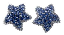 A Pair Of Sapphire Earrings.