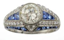 A Diamond And Sapphire Ring, Sophia D.