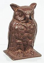 Seated Owl Cast Iron Still Bank.