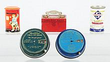 Lot of 5: Tin Still Banks.