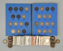 Lot Of 105 Barber Head Coins.