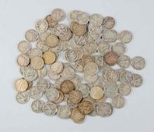Lot Of 100: Walking Liberty Silver Half Dollar.