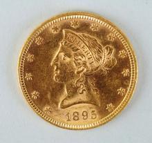 1895 $10 Gold Liberty Eagle.