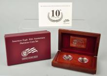 American Eagle 10th Anniversary Coin Set.