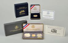 Lot Of 2: U.S. Commemorative Set and Gold Coin.