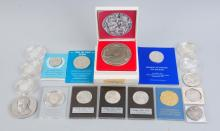 Lot Of Assorted Sterling and .999 Silver Medals.