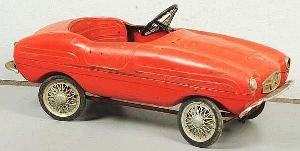 Giordani mercedes benz sl sports pedal car for Mercedes benz pedal car