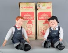 Lot Of 2: Laurel And Hardy Ventriloquist Dolls
