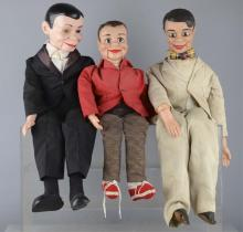 Lot Of 3: Ventriloquist's Dummy Style Toy Dolls