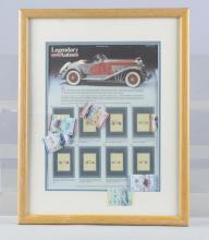 Legendary Autos Commemorative Stamp Display