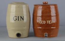 Lot of 2: Ceramic Countertop Beverage Dispensers