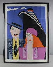 Art Deco Style Man and Wife Print