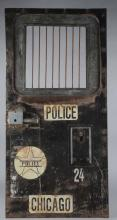 Early Chicago Police Vehicle Paddy Wagon Door