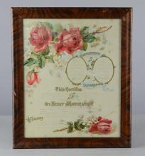 Antique Certificate of Marriage