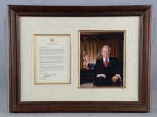 Lot Of 2: Signed Presidential Photos & Letters