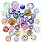 Lot of 33: Handmade Marbles.