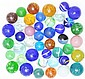 Lot of 43: Handmade Marbles.