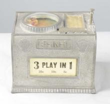 Multi-Coin Chas. Fey 3-in-1 Dice Machine