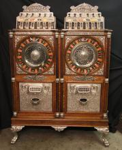 5¢ Caille Twin Centaur Upright Double Slot Machine