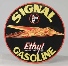 Reproduction Signal Gasoline Round Tin Sign
