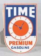 Time Gasoline Porcelain Pump Plate
