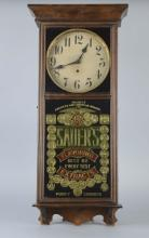 Gilbert Wall Clock With Reverse Glass Ad