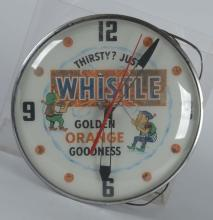 Whistle With Elves Round Lighted Clock