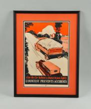 C. 1920 Auto Safety Poster.