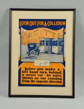 C. 1920 Auto Safety Poster