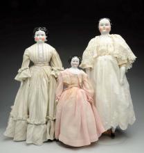 Lot Of 3: China Dolls .