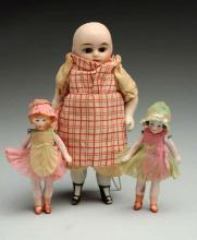 Lot Of 3: All-Bisque German Dolls.