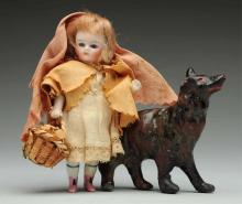 Dainty German All-Bisque Doll.