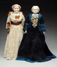 Lot Of 2: Molded Hair Dolls.
