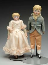 Lot Of 2: Molded Hair German Dolls.