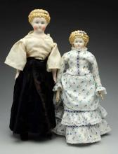 Lot Of 2: Parian Dolls.