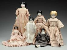 Lot of 6 China Dolls.