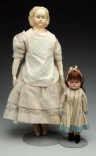 Lot Of 2: German Papier-Mâché Dolls.