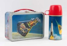 1963 John Glenn Orbit Lunchbox With Thermos.