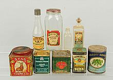 Lot of Advertising Tins & Bottles.