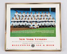 Ballantine Beer New York Yankees Sign.