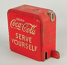 1950s Coca-Cola Cooler Coin Box.