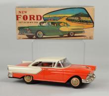 Japanese Tin Litho Friction Ichiko 1957 Ford Auto.